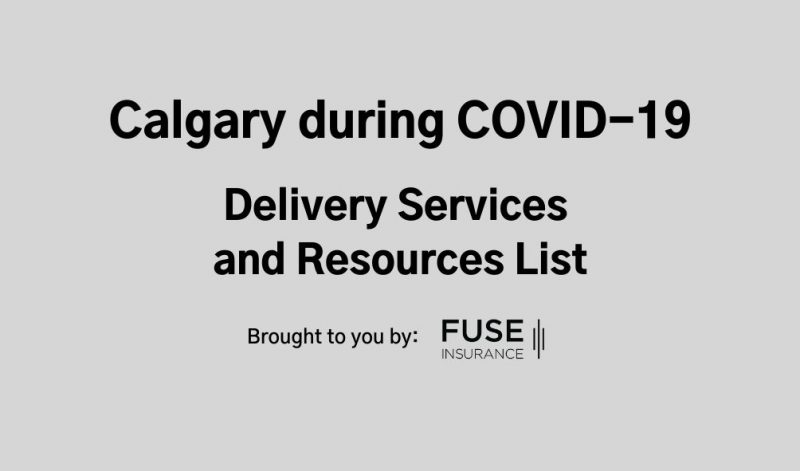 Calgary During Covid delivery and resource list