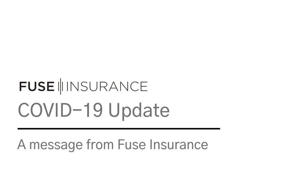 covid update from Fuse Insurance